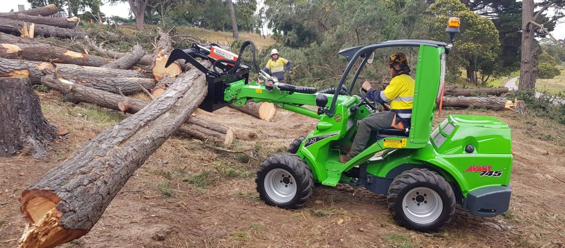 Avant 745 Demo Peter Gabbe Vic loaders for arborist