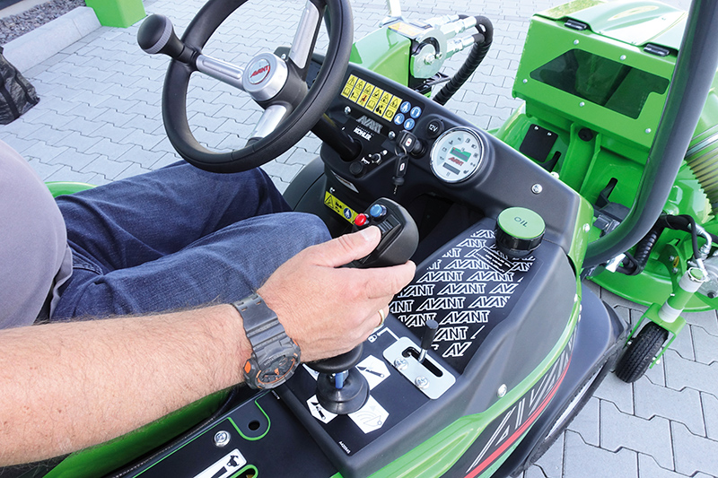 Hand controls available as an option on Avant compact loaders